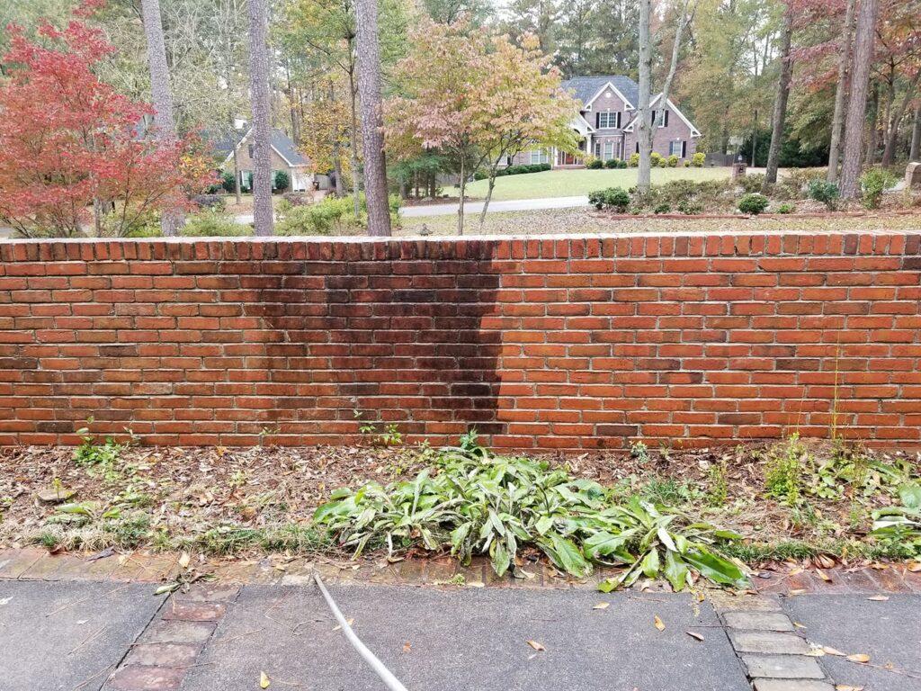 Pressure Washing - Brick Wall
